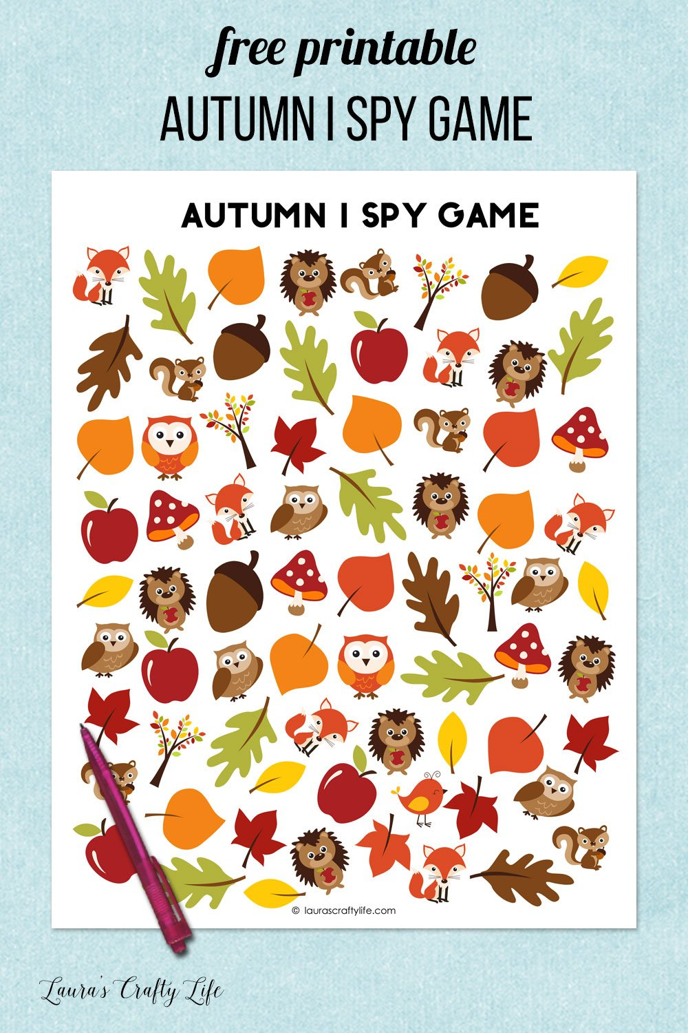 autumn i spy game