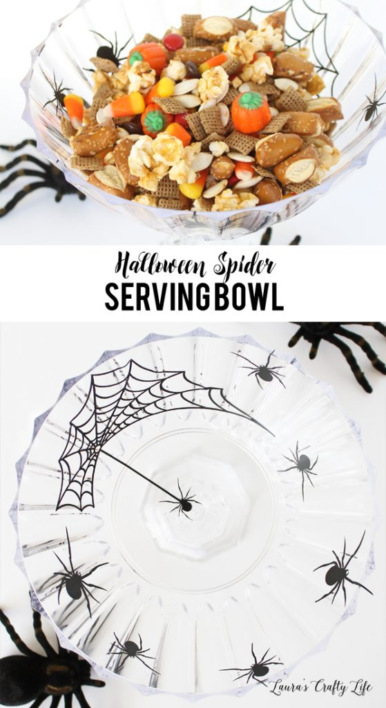 Halloween Spider Serving Bowl - made with vinyl and the Cricut Explore