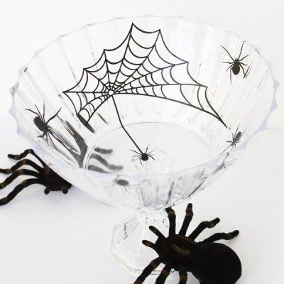 Spooky Halloween Spider Serving Bowl