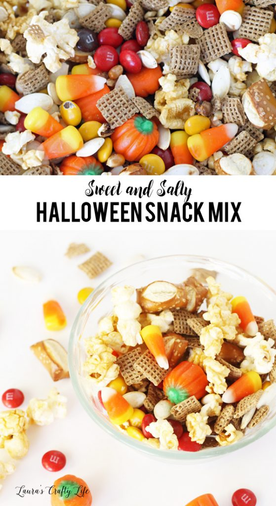Sweet and Salty Halloween Snack Mix Recipe