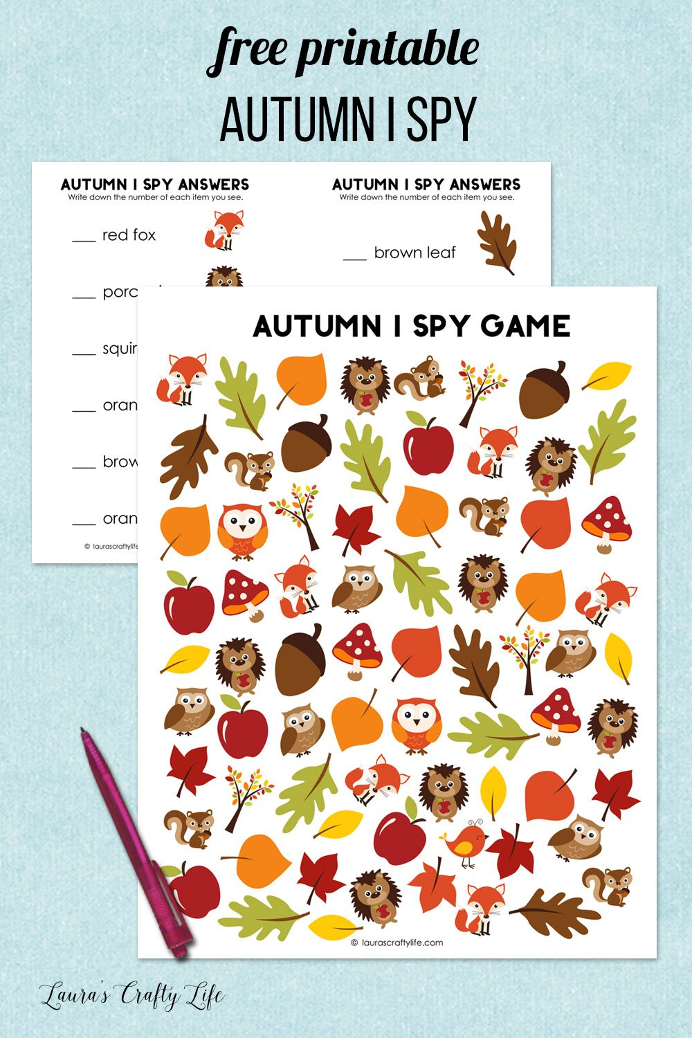free printable autumn i spy