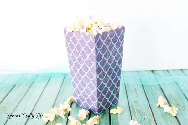 Blue and Purple Mermaid Popcorn Box