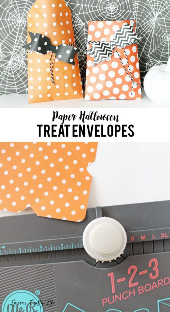 Create paper Halloween treat envelopes with the We R Memory Keepers 1-2-3 punch board