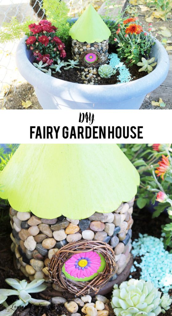 DIY Fairy Garden House - Create your own fairy garden house easily from an unfinished birdhouse. Perfect for your fairy garden.
