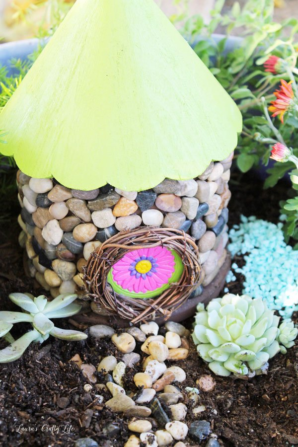 DIY Fairy Garden House - create a fairy garden house from a birdhouse