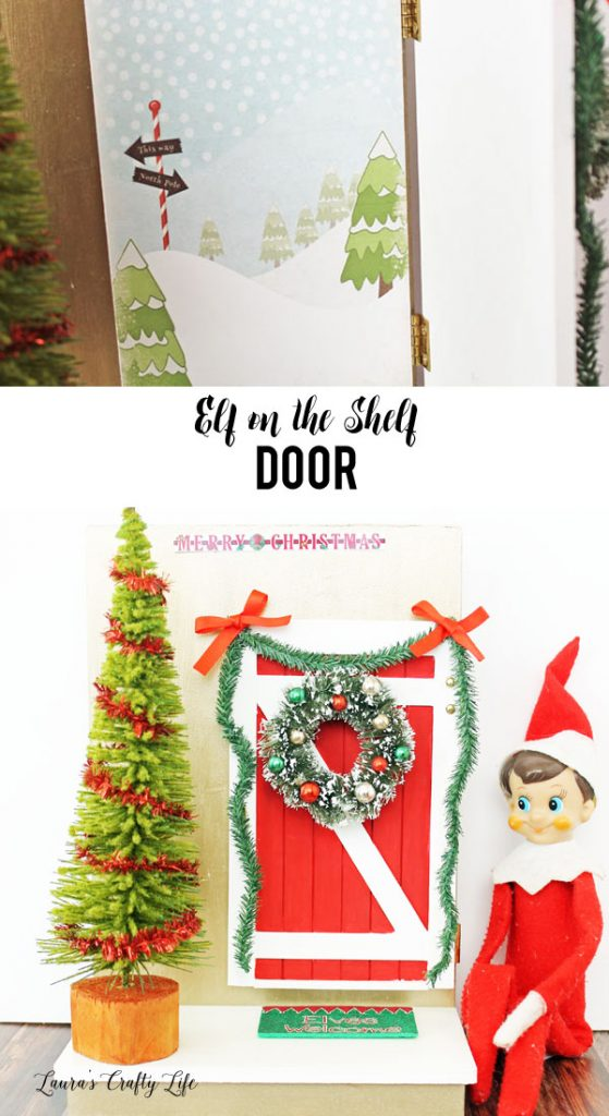 Elf on the Shelf Door with free printable North Pole background - part of Miniatures.com