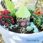 Fairy Garden House in large planter