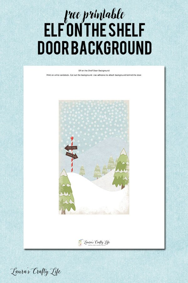 Free Printable Elf on the Shelf Door Background
