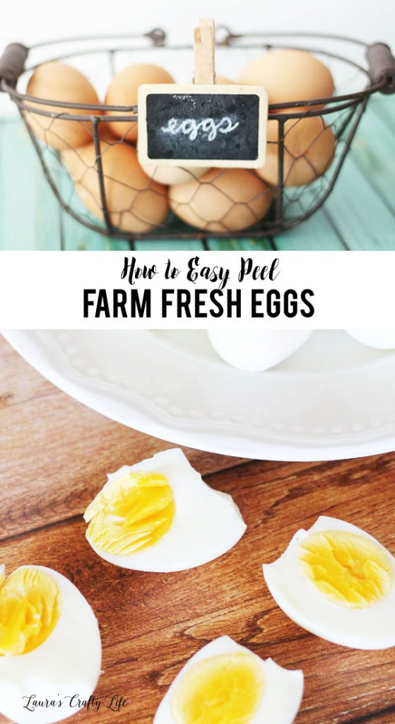 How to easy peel farm fresh eggs - tips and tricks for getting hard boiled eggs to peel easily