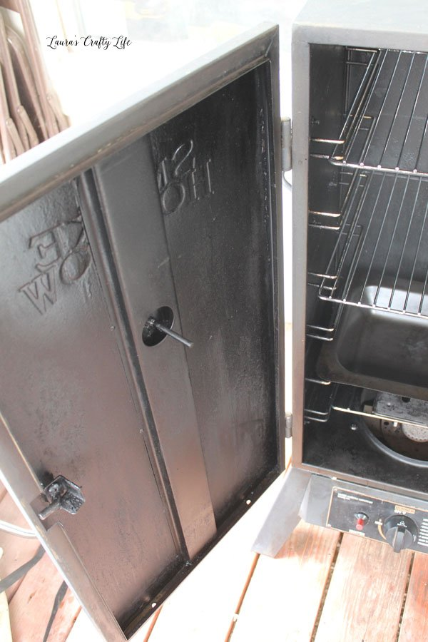 Inside of smoker door - after