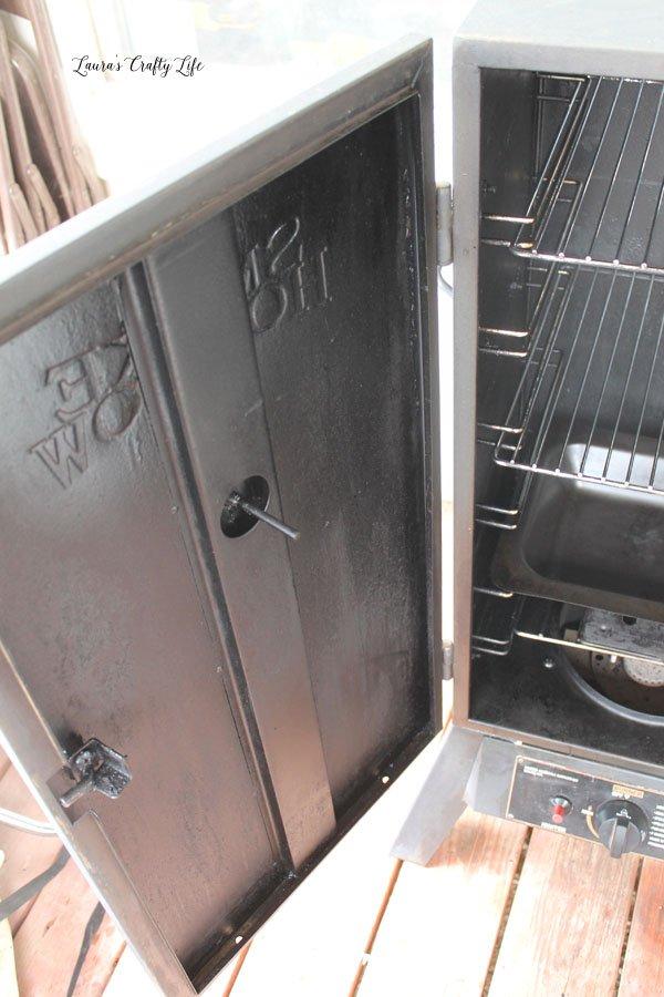 Inside of smoker door - after