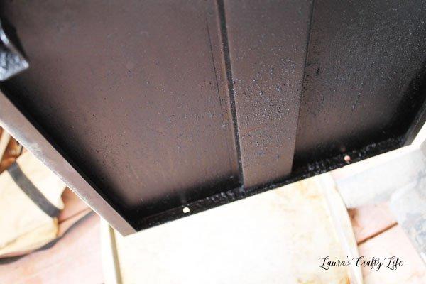 Inside of smoker door - before