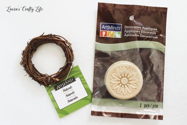 Items to make door for fairy garden house