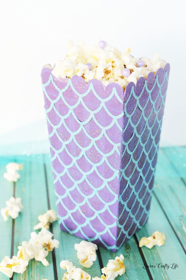 Mermaid Popcorn Box - Halloween Popcorn Box Party 2017