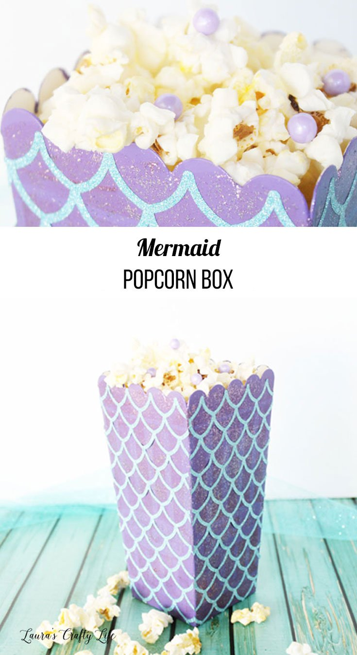 Mermaid Popcorn Box