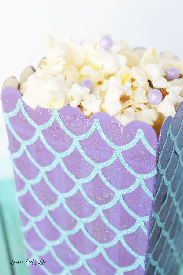 Mermaid popcorn box for party