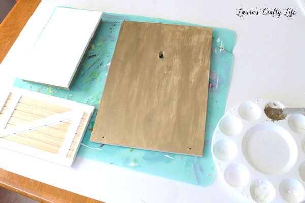 Paint parts of elf door kit