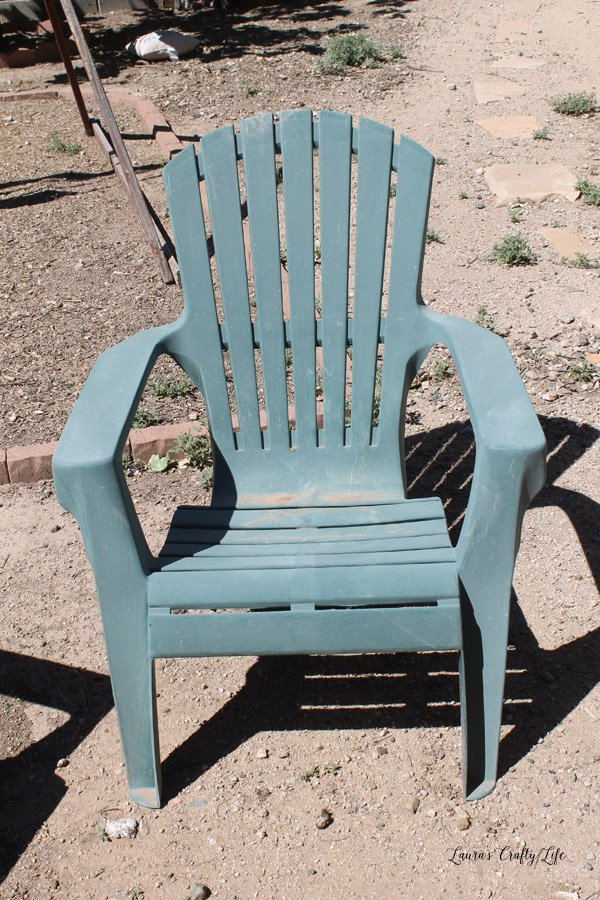 Plastic Adirondack Chair   Before
