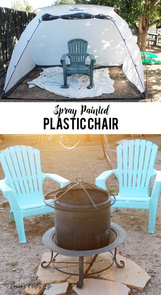 Spray Painted Plastic Chairs   Easily Give Your Patio Furniture A Refresh  With Spray Paint