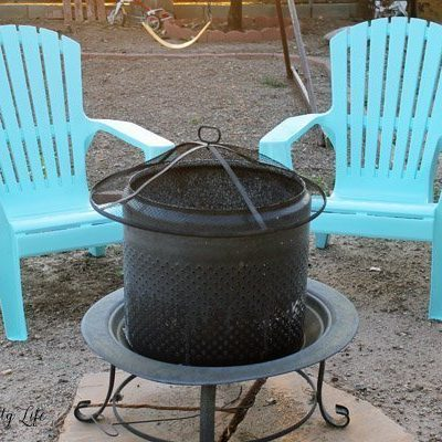 Spray paint your adirondack chairs to make them like new again