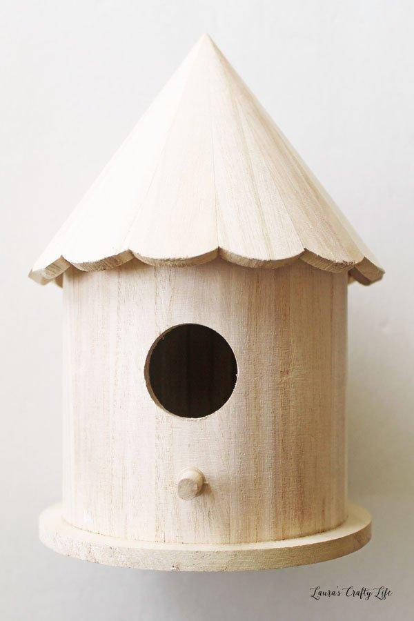 Unfinished bird house