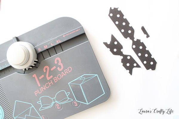 Use 1-2-3 Punch Board to create a bow