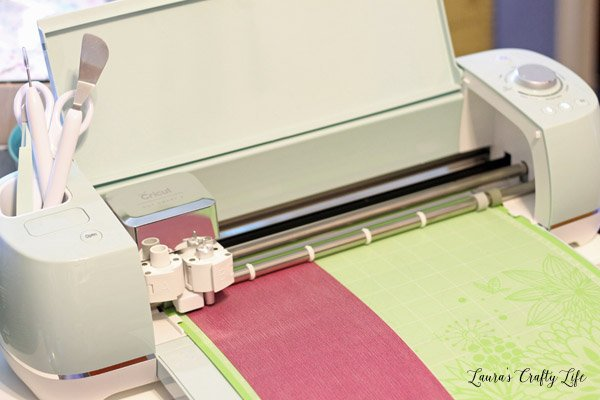 Use Cricut Explore to cut out iron on material