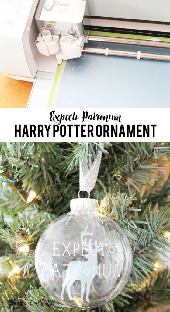 Expecto Patronum Harry Potter Ornament made with Cricut