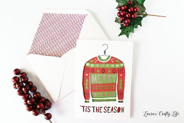 Ugly Christmas Sweater Card - Cricut Make it Now