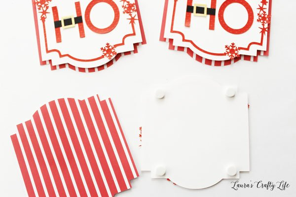 Use adhesive foam dots to attach pieces together