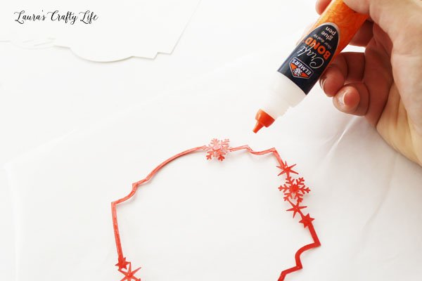 Use glue pen for attaching thin cardstock pieces
