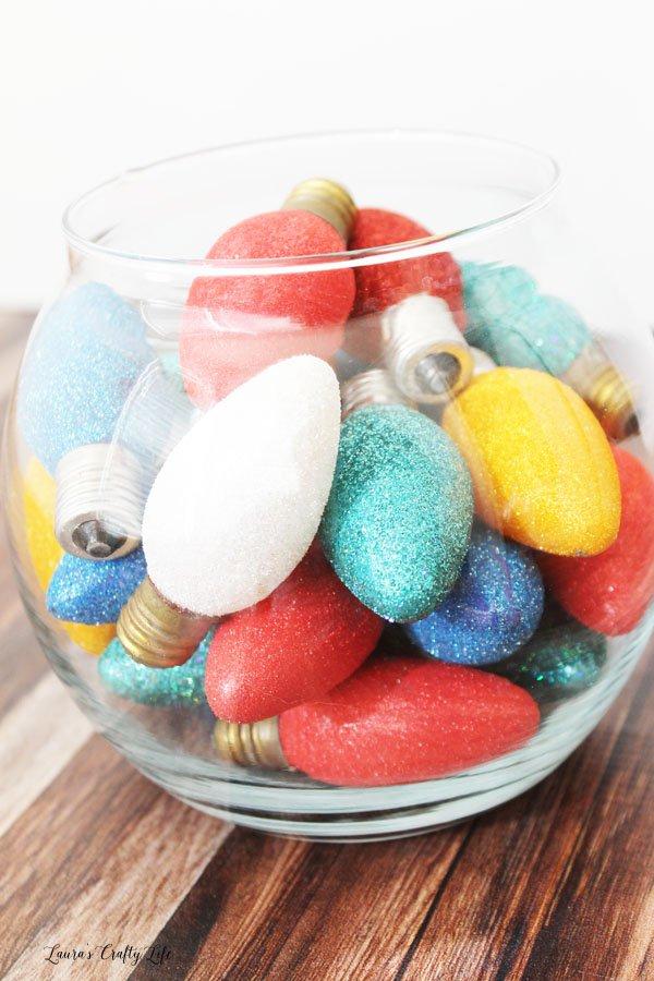Vintage Glitter Bulbs