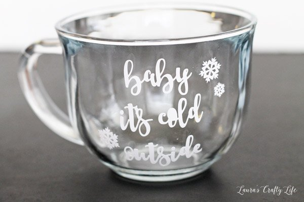 Baby It's Cold Outside - add vinyl to a Dollar Tree mug