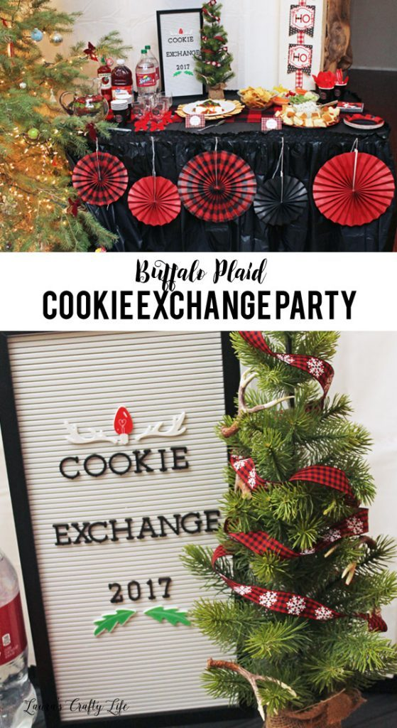 Buffalo Plaid Cookie Exchange with Oriental Trading Co. - get all the details on how to throw the perfect cookie exchange party!