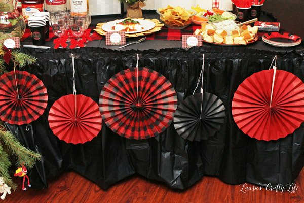 Buffalo Plaid Hanging Fans - Oriental Trading Co.