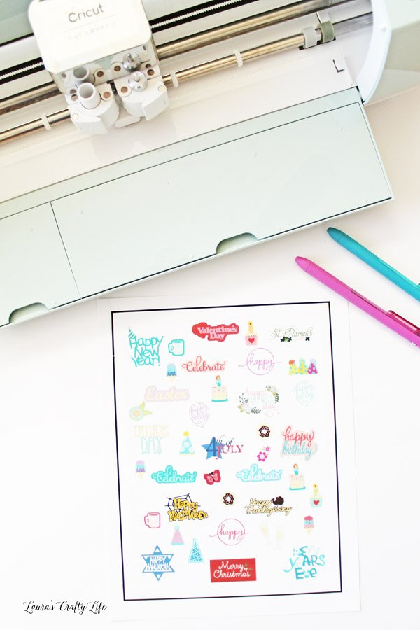 Celebration Planner Stickers with Cricut Explore