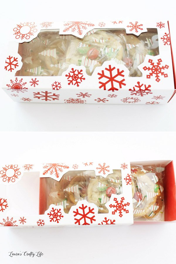 Cookie Exchange snowflake cookie boxes - from Oriental Trading