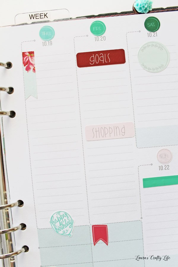 DIY Planner stickers with Cricut Explore