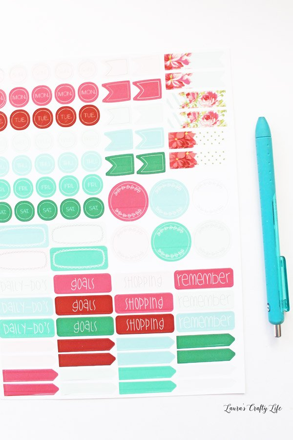 Daily Planner Stickers Made with Cricut Explore