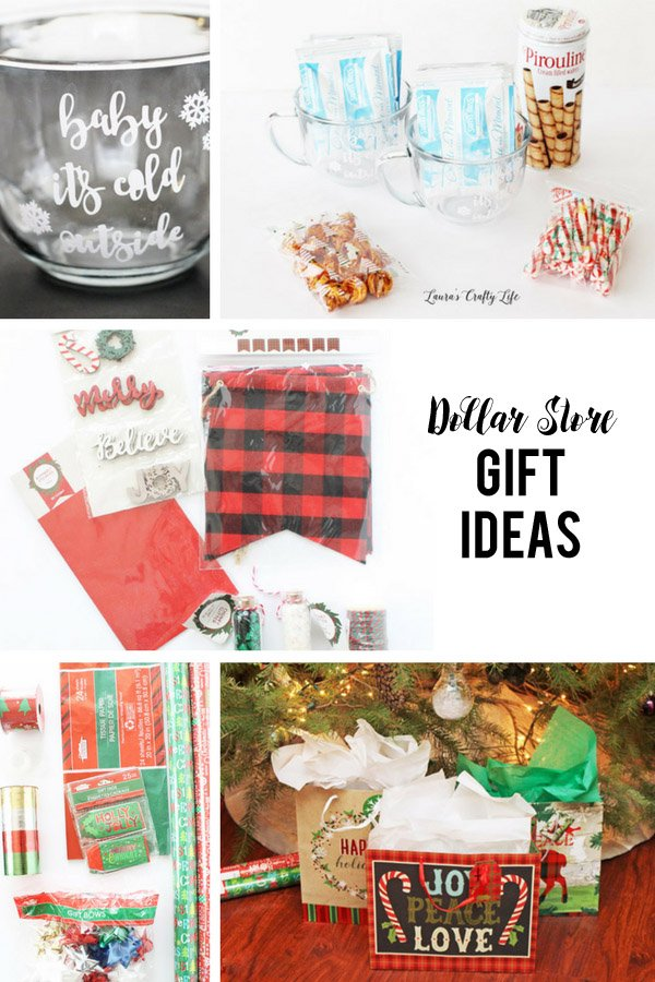 Dollar Store Gift Ideas - three different ideas for affordable and thoughtful dollar store gifts