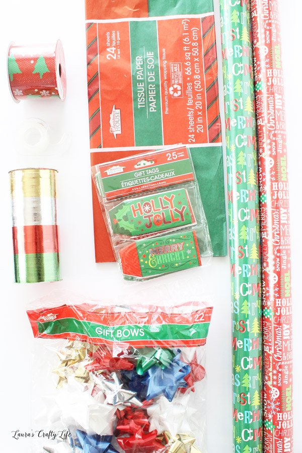Dollar Store gift idea - the gift of a perfectly wrapped package