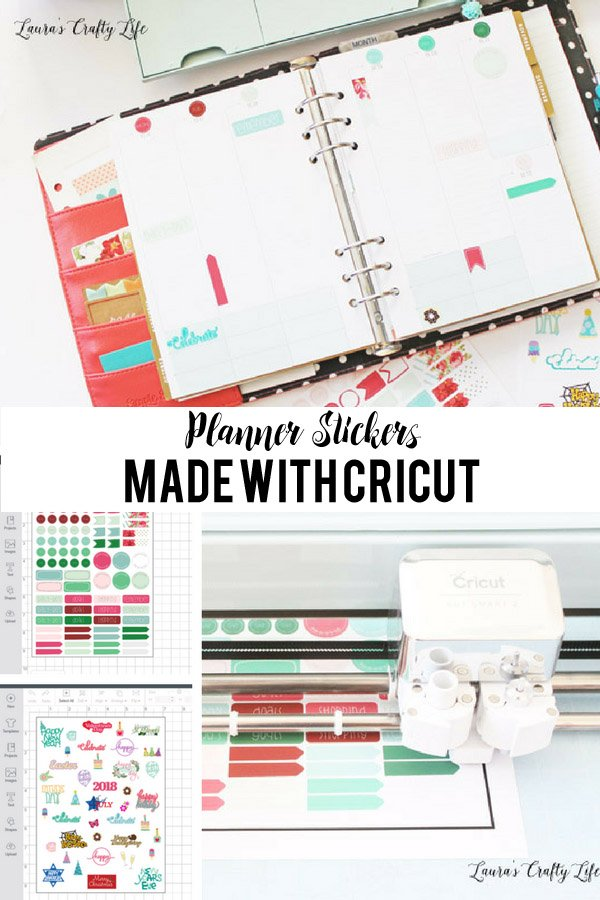 Planner Stickers made with Cricut Explore - daily stickers and celebration stickers