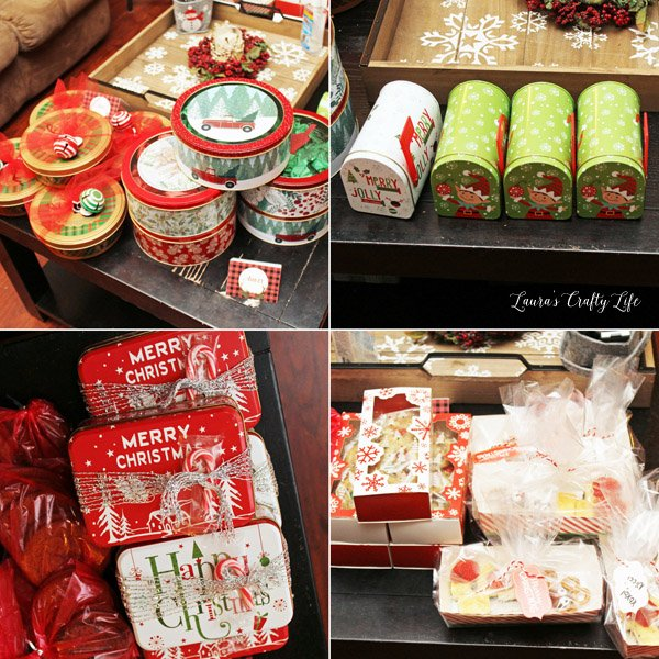 Treat packages at Buffalo Plaid Cookie Exchange