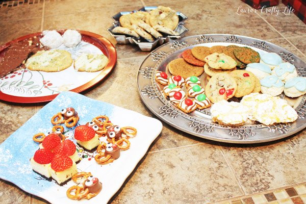 Treats at Buffalo Plaid Cookie Exchange