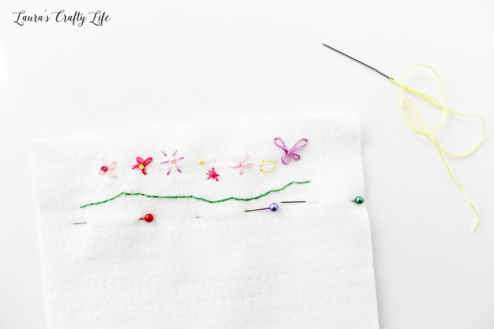 Embroider design on part of the tissue case