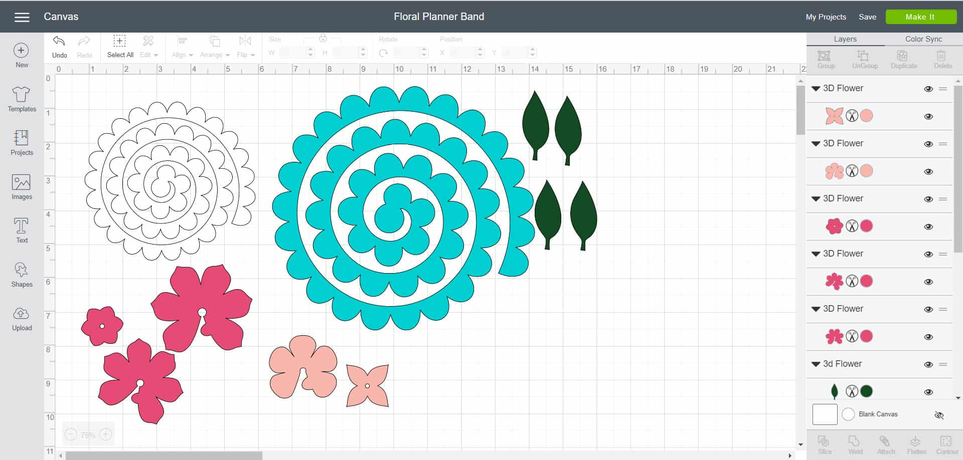 Floral Planner Band - Cricut Design Space