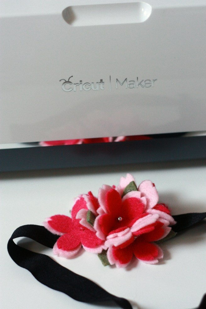 Felt Flower Headband - Cricut Maker