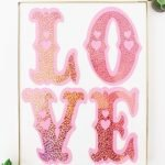 Love Vinyl Wall Art - made with Cricut Explore Air 2