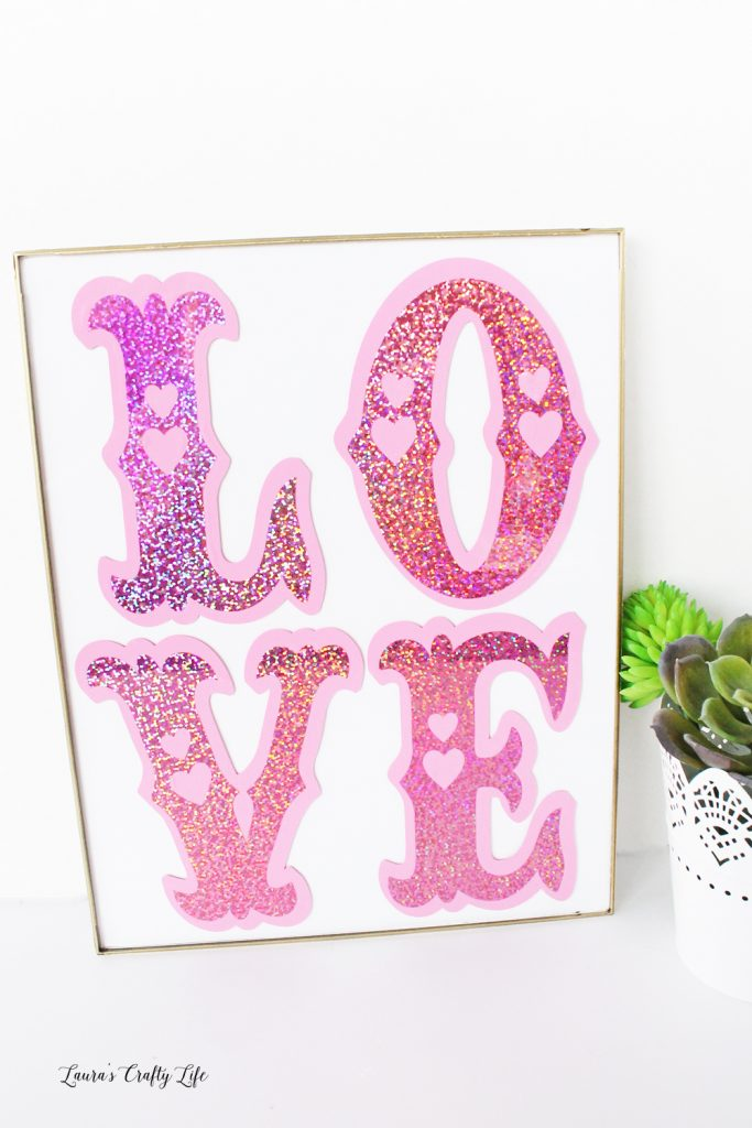 Made with Cricut - Love Vinyl Wall Art