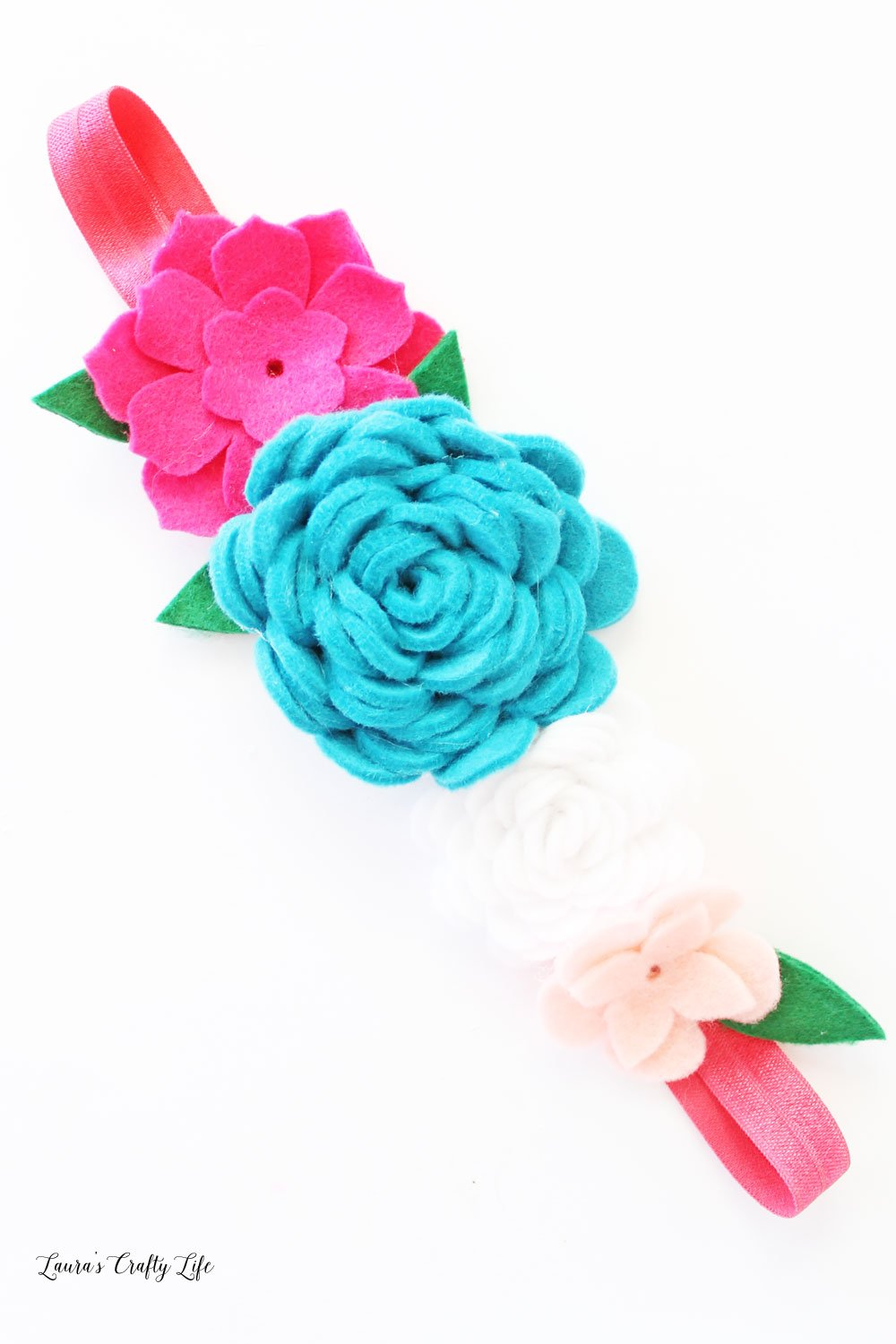 Make felt flowers for planner band or headband